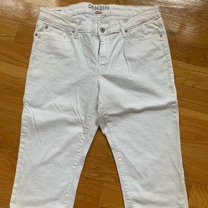 Denizen Levis White Stretch Capri Jeans Size 14